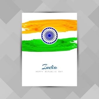 Indische trikolore thema broschüre vorlage