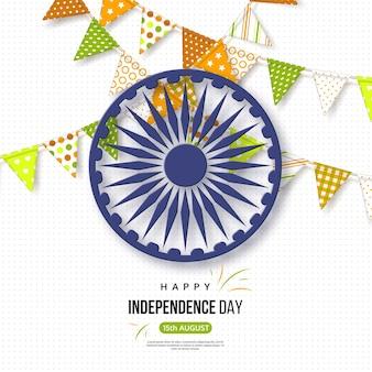 Indische unabhängigkeitstag-feiertagskarte.