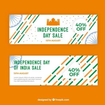 Indische Unabhängigkeitstagsverkaufsfahnen