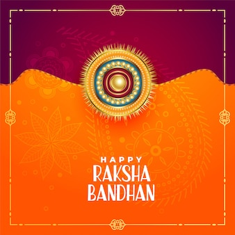 Indischer art raksha bandhan festivalgruß
