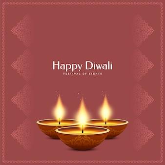 Indischer festival glücklicher diwali-hintergrund