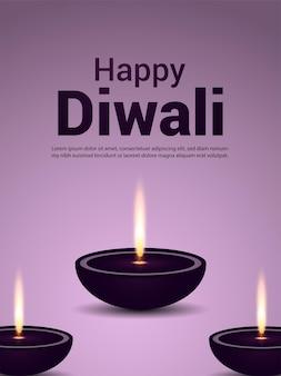 Indischer festival-of-light-feier-party-flyer