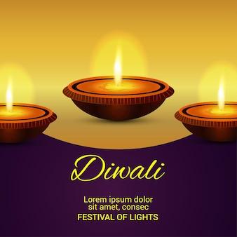 Indischer festivalfeierhintergrund mit diwali diya