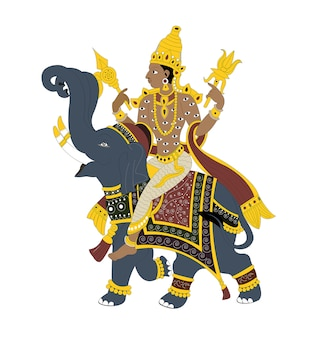 Indischer lord indra