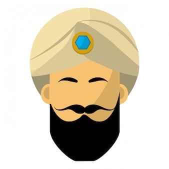 Indischer mann mit turbant