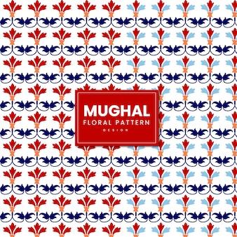 Indischer mughal-blumenmuster-entwurf