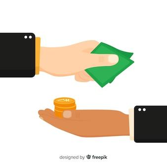Indischer rupie-austausch