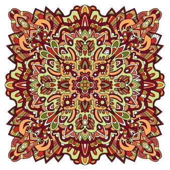Indischer stammes-zierteppich