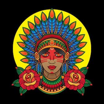 Indisches apachenmädchen