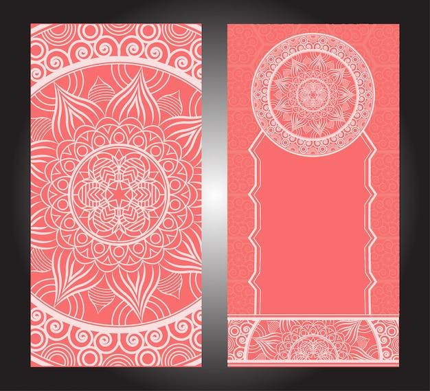 Indisches blumenpaisley-medaillonmuster. ethnische mandala-verzierung. vektor henna tattoo-stil. kann für textilien, grußkarten, malbücher und telefonetuis verwendet werden
