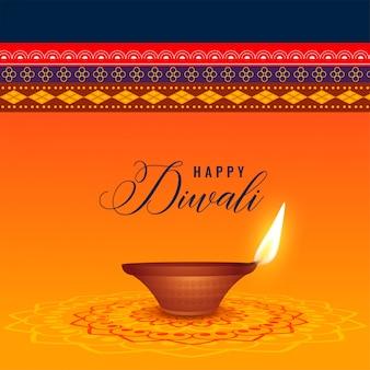 Indisches diwali festival mit diya und ethnischem hintergrund