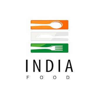 Indisches essen, restaurant-logo
