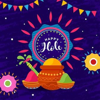 Indisches fest der farben, happy holi concept