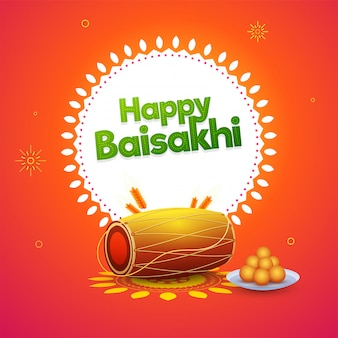 Indisches festival baisakhi-konzept.