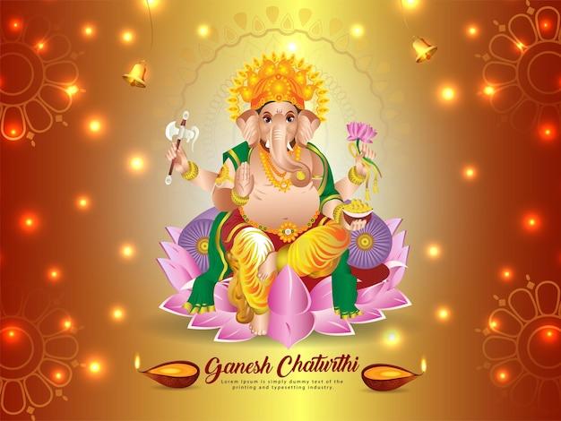 Indisches festival des glücklichen ganesh chaturthi feierhintergrundes