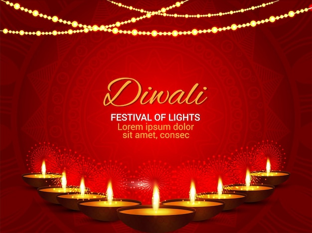 Indisches festival des lichts glücklicher diwali-hintergrund