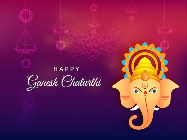 Indisches festival ganesh chaturthi hintergrund.