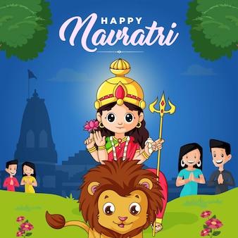 Indisches festival glückliche navratri-banner-design-vorlage