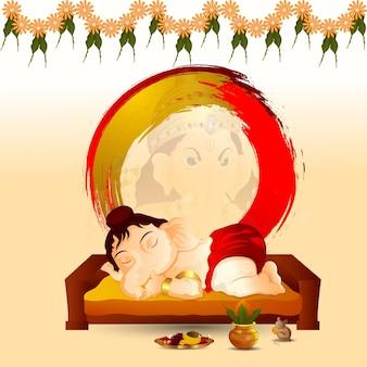 Indisches festival glücklicher ganesh chaturthi feierhintergrund