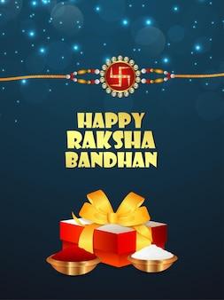 Indisches festival glücklicher raksha-bandhan-feierhintergrund mit vektorillustration