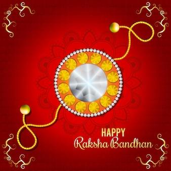 Indisches festival glücklicher raksha-bandhan-feierhintergrund