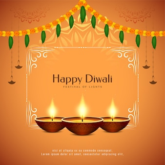 Indisches festival happy diwali feier hintergrund