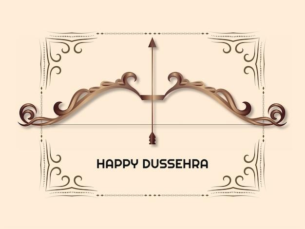 Indisches festival happy dussehra gruß hintergrundvektor