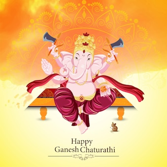 Indisches festival happy ganesh chaturthi