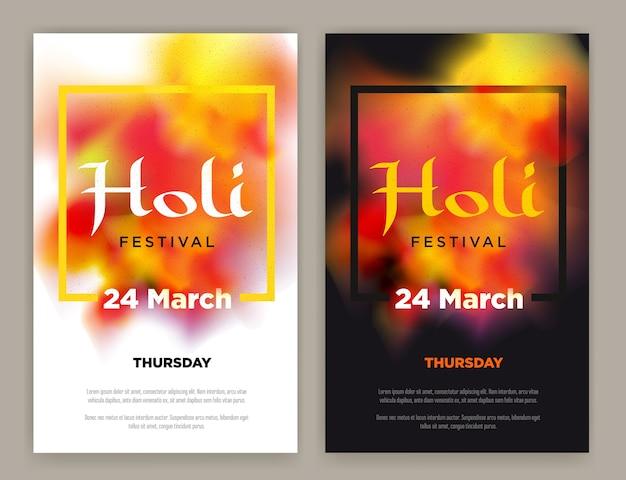 Indisches festival holi plakat