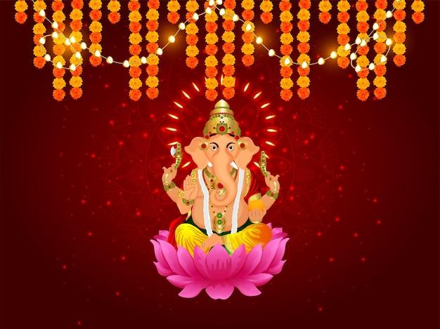 Indisches festival mit vektorillustration für fröhliche dhanteras-feier