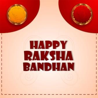 Indisches festival von bruder und schwester glücklicher raksha-bandhan-hintergrund