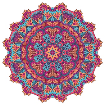 Indisches florales paisley-ornament ethnic mandala handtuch yogamattendruck