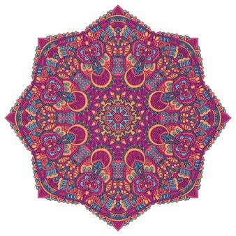Indisches florales paisley-ornament ethnischer mandala-blumendruck