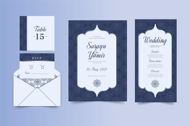 Indisches hochzeitsbriefpapier