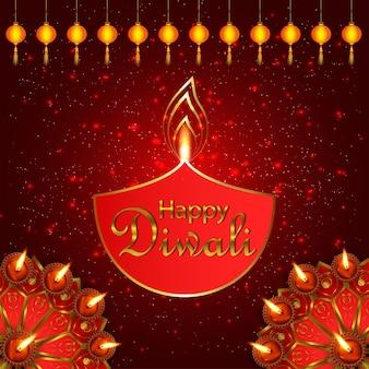 Indisches lichtfest fröhliche diwali-feier