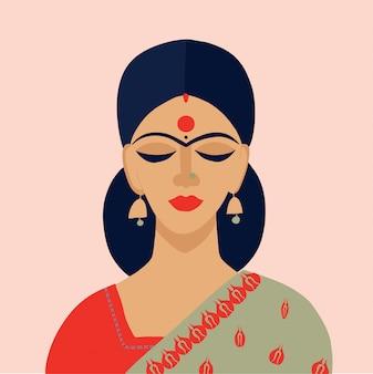 Indisches mädchenmodeporträt