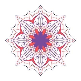 Indisches mandala-abzeichen