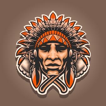 Indisches maskottchen-logo