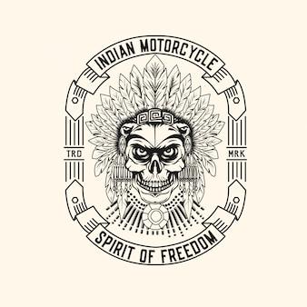Indisches motorrad-logo