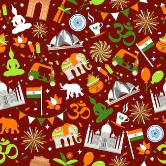 Indisches nahtloses muster für ihr design