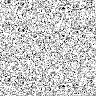 Indisches nahtloses schwarzweiss-muster