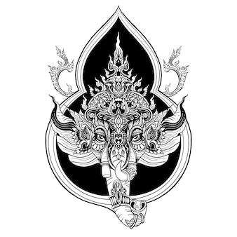 Indisches religiöses festival ganesh chaturthi template design, vektorillustration