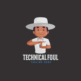 Indisches technisches foul-maskottchen-logo-design