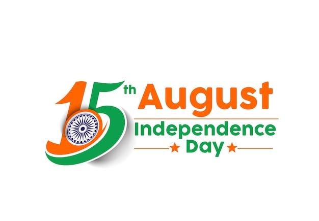 Indisches unabhängigkeitstag-konzept mit hindi-text von swatantrata diwas 15. august