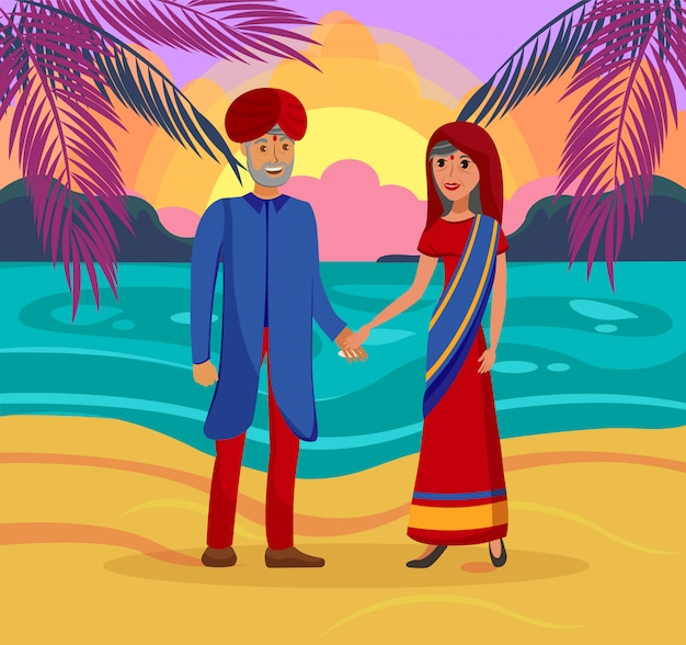 Indisches verheiratetes paar