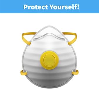 Individuelle medizinische schutzmasken n95 realistische darstellung