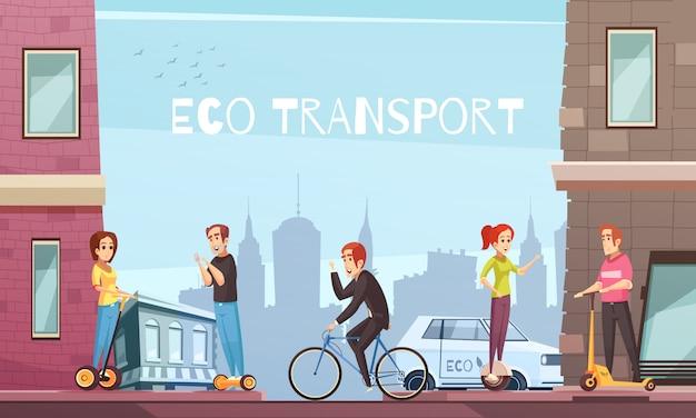 Individuelle öko-verkehrsstadt