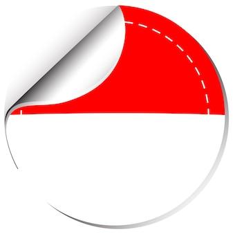 Indonesien-flagge im sticker-design