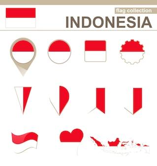 Indonesien flaggenkollektion, 12 versionen