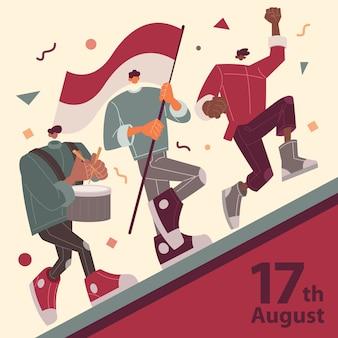 Indonesien independence daya peoples parade